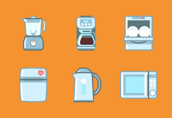 "The Icon set ""Cooking apparatus (uniform grid 32px)"""