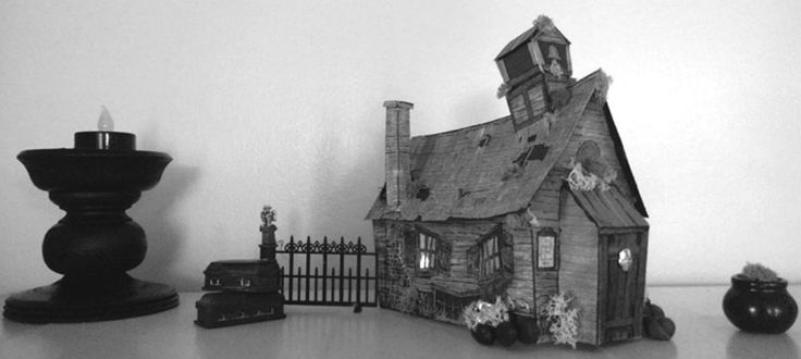 Thanks to the time and generosity of Universal Studios prop-designer Ray Keim, you can download, print and build your favorite horror houses out of cardstock, completely for free.