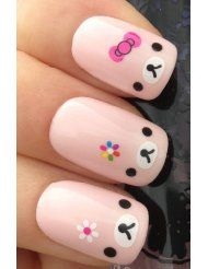 Really cute. Too cute for me, but I'm sure someone else would love to have me do their nails like this.: