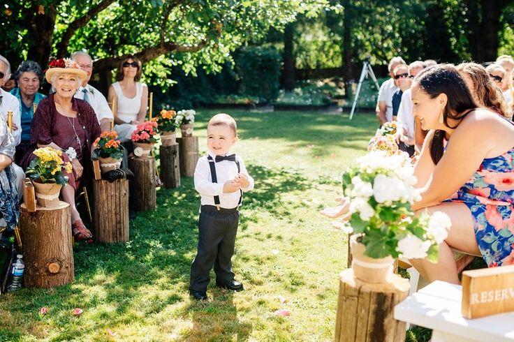 Ring Bearer Backyard Wedding