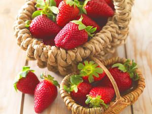 Die Ernte der heimischen Erdbeere beginnt ab Mitte Mai.