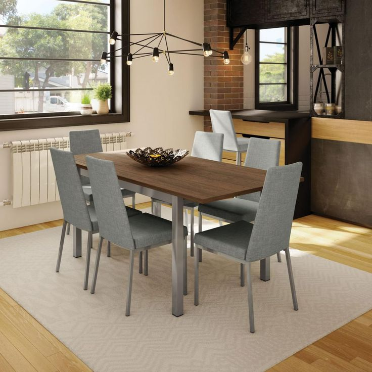 Amisco Linea 7 Piece Dining Set with Alley