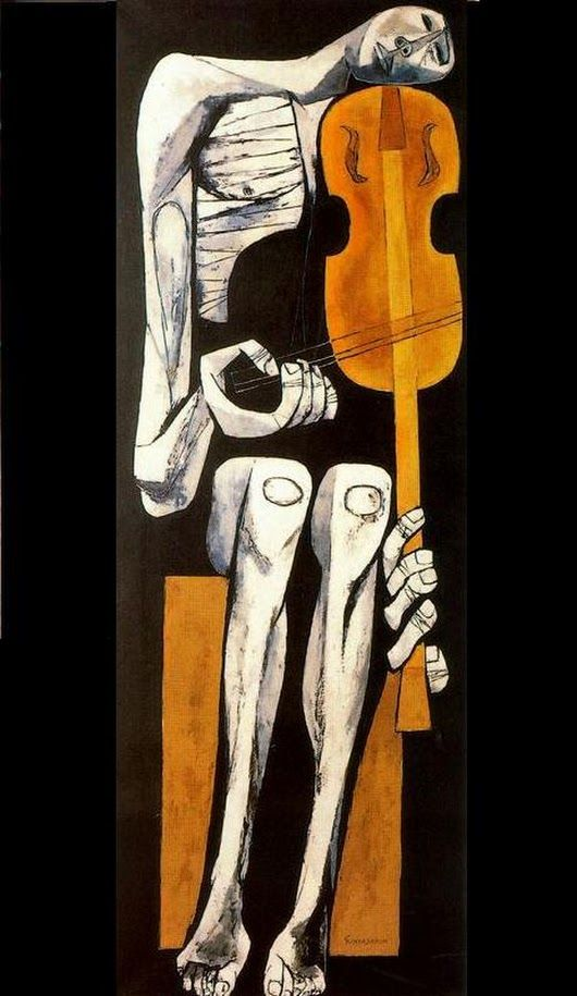 *The violinist** (1967) by Oswaldo Guayasamin.* - TheFrogPerspective - Google+