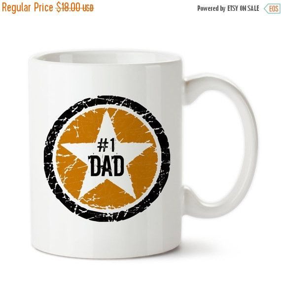 Coffee Mug, Orange Black Rock Star #1 Dad, Number 1 Dad, Best Dad, Awesome Dad, Father's Day, Birthday Gift For Dad