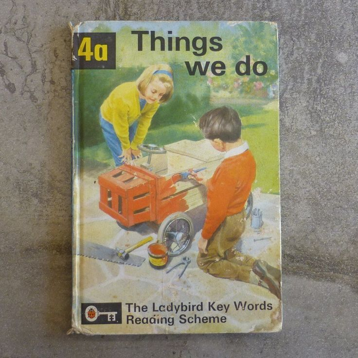 Vintage Ladybird Book. A Ladybird Key Words Reading Scheme Things we do Written by W.Murray, with J.McNally. 4a Printed 1964, England.