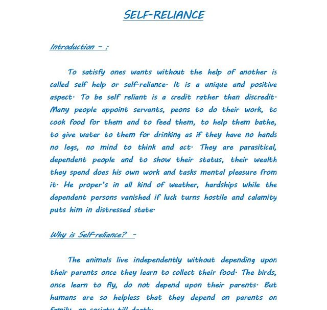 Self Reliance About Self Reliance Essay Self Reliance Why Is Self Reliance Gandhi On Self Reliance Self Reliance Self Help Self
