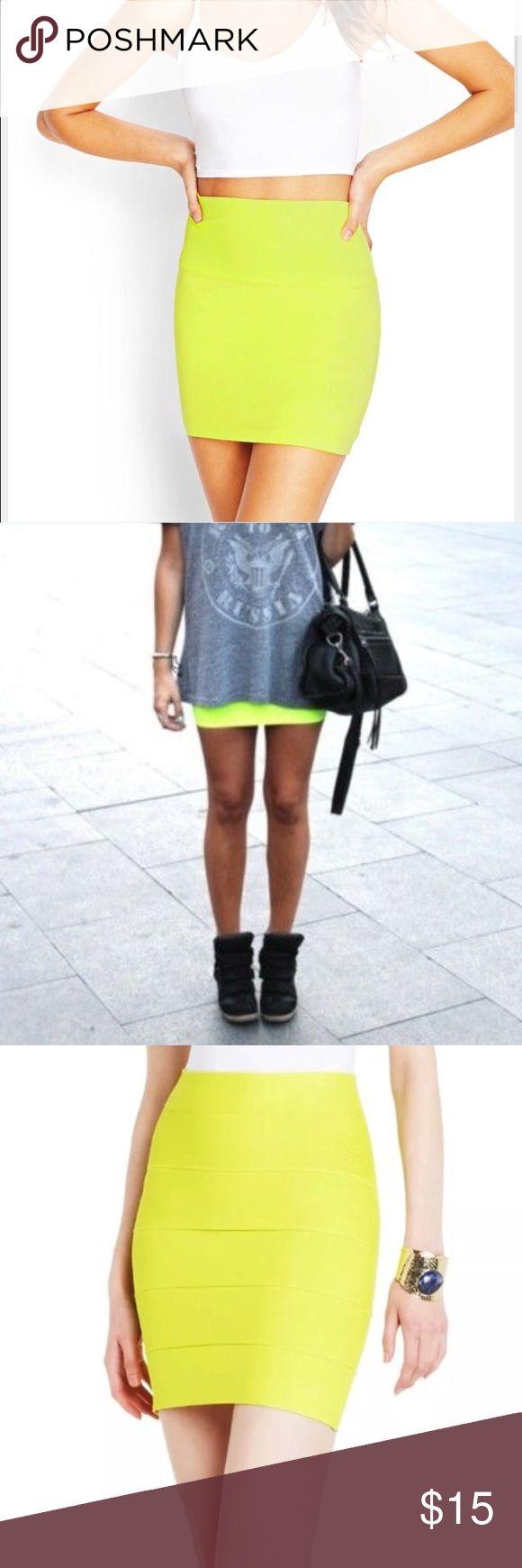 Neon yellow skirt NEW Neon yellow skirt Material Girl Skirts Mini