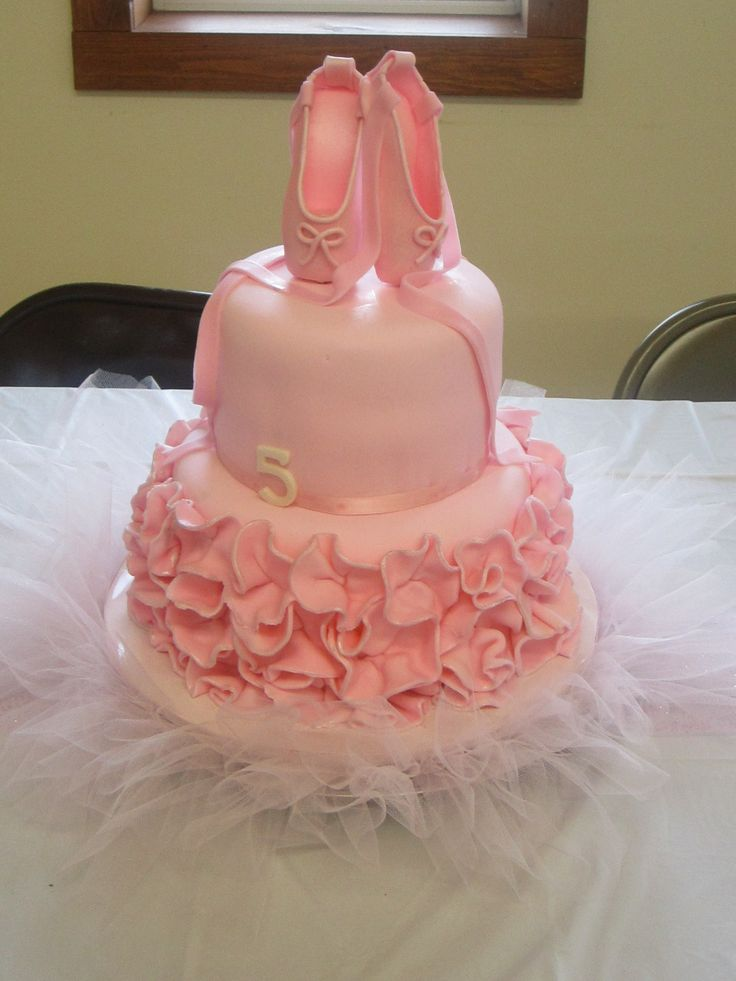 Ballerina Slippers Birthday Cake