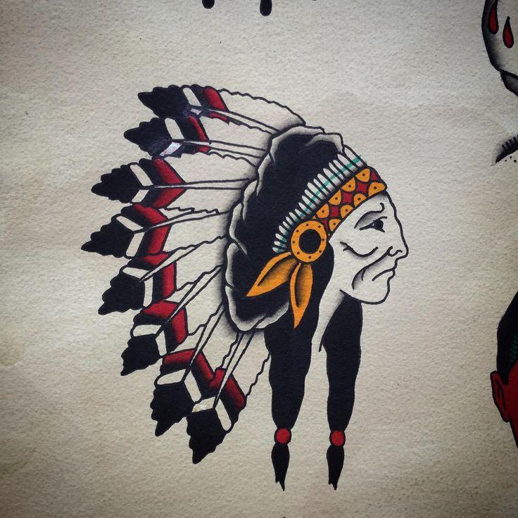 Wolny wzorek / design available ✌️ #allspit #tattoos  #trflash #trad_tattooflash #tattoo #warsawtattoo #tatuaż #oldschool #ilustracja #illustration  #flashaddicted #flashworkers #traditionaltattoo #oldschooltattoo #spitshade #cool #western #warszawa #oldlines #lublin #eutradtattoo #poland #nativeamerican #chief #instaart #darkartists  #painting #blackwork