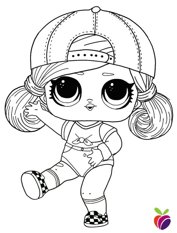 Lol Surprise Hairgoals Series Coloring Page Sk8er Grrrl Cool Coloring Pages Cartoon Coloring Pages Cute Coloring Pages