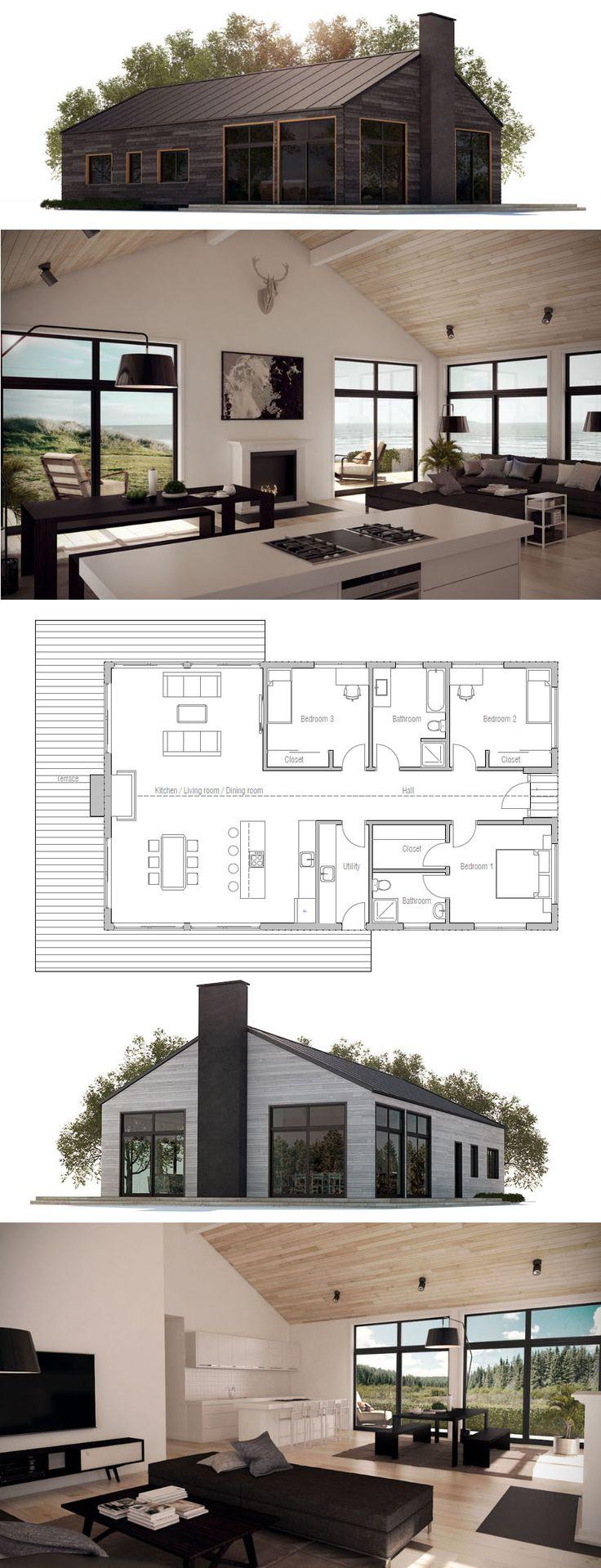 Erdgeschoss haus front design  best Одноэтажный дом images on pinterest  house floor plans