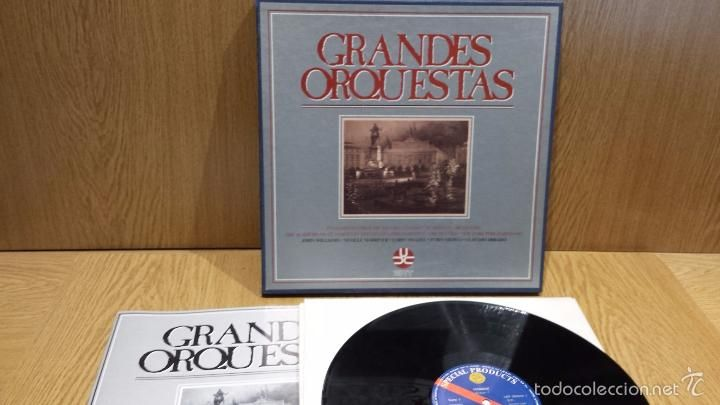 GRANDES ORQUESTAS. ENGLISH CHAMBER ORCHESTRA / LONDON SYMPHONY. CAJA CON 5 LP + LIBRETO / LUJO ****