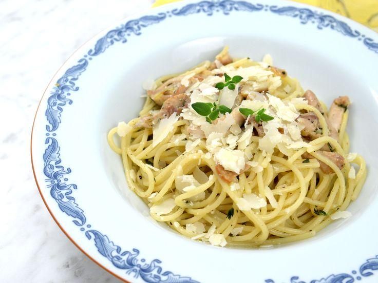 Spaghetti med citronkyckling och parmesan | Recept från Köket.se