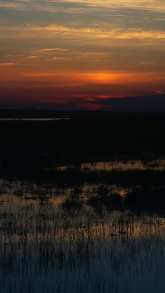 freeios8.com - no08-sunset-nature-river-lake-mountain - http://bit.ly/2llBFUm - iPhone, iPad, iOS8, Parallax wallpapers