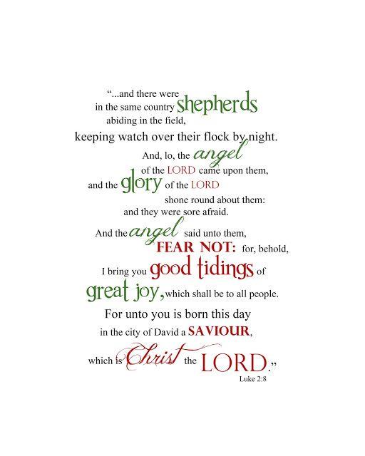 Luke 2:8 Word Art (12 Days of Christmas Printables)