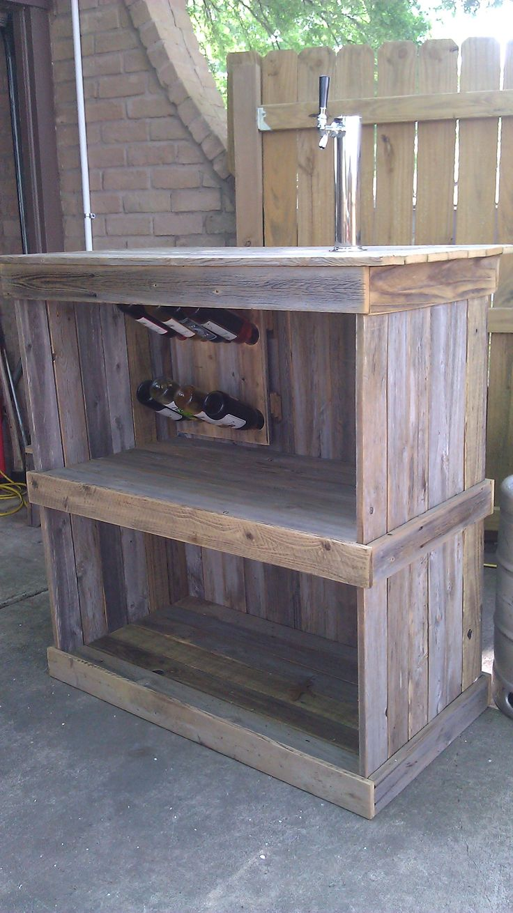 Fence Board Bar Recycled Boards Pinterest