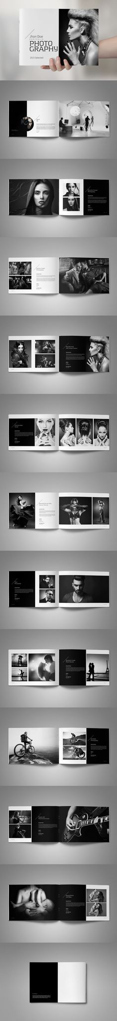 Photography Portfolio Brochure Template InDesign INDD - 24 Pages