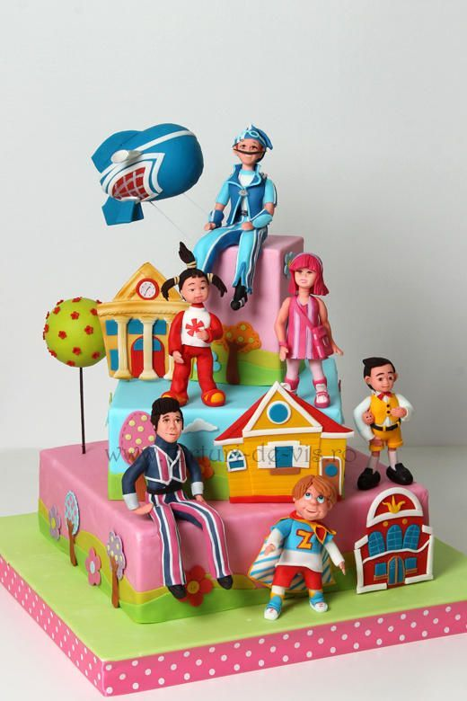 Lazzy town cake