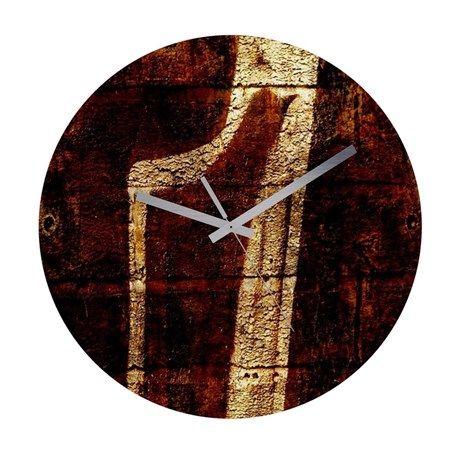 Frameless Wall Clock Texture59