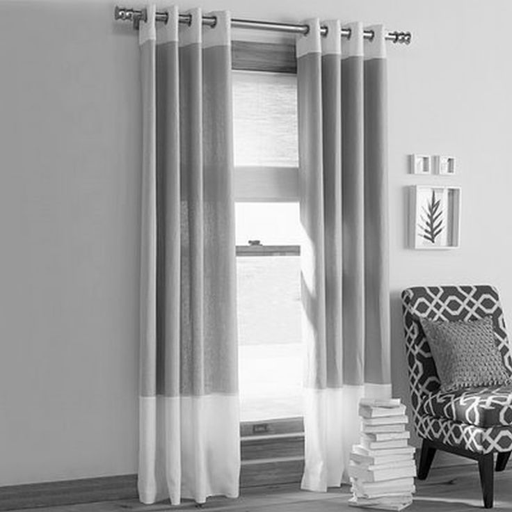 Contemporary Living Room Decorating Ideas With Fancy Double Gray Fabric  Curtains For Modern Drapes Living Room