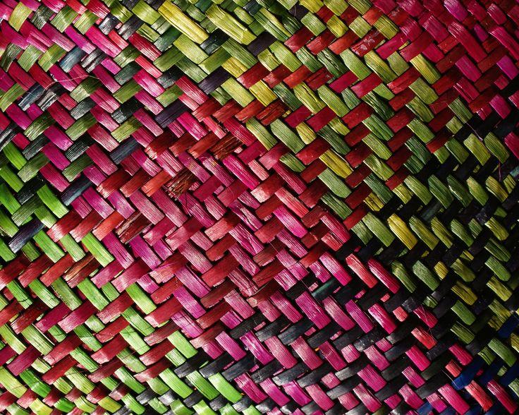 HARAKEKE KETE - RAU KUMARA (detail) 'Raranga/whatu - weaving here and now' @ VISUAL CULTURE