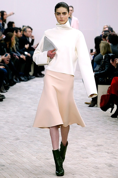 Céline Fall 2013: Crisp Flirty lines. Love skirts that move.