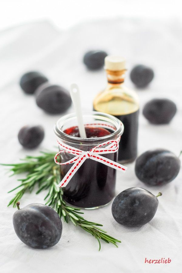 Rezept für eine herzhafte Pflaumenmarmelade