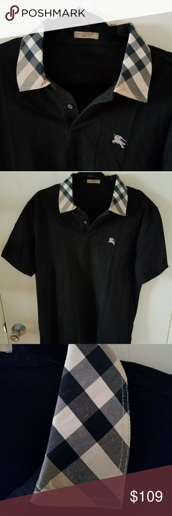 """BURBERRY Brit Polo Shirt 100% Authentic L XL NEW 100% Authentic Burberry Brit polo Shirt. Very Rare! This is a UK exclusive, not available in the USA!  Large US NEW  No size tag, but equal to USA Large or slim XL   BRAND NEW no Tag  23"""" Armpit to armpit. (Please compare LAST PIC)  Better Price through PPal Text me  Eric 925-984-1655  Low-ball offers will be ignored, sorry no trades  If you have an offer, make an offer, don't comment and ask if I'll take a certain amount.  Thanks Burberry…"""