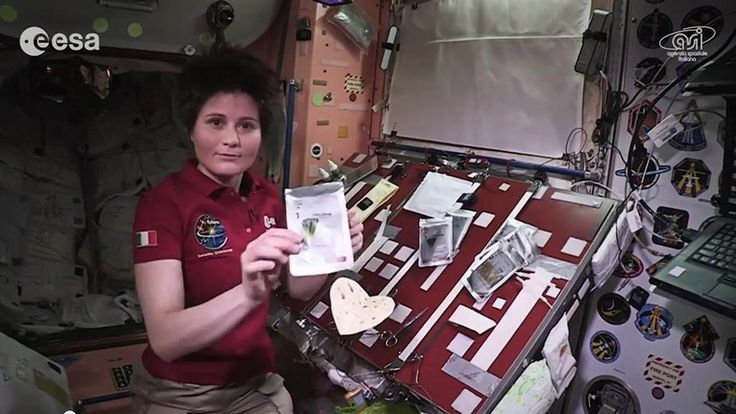 Samantha shows how fine dining is done in space