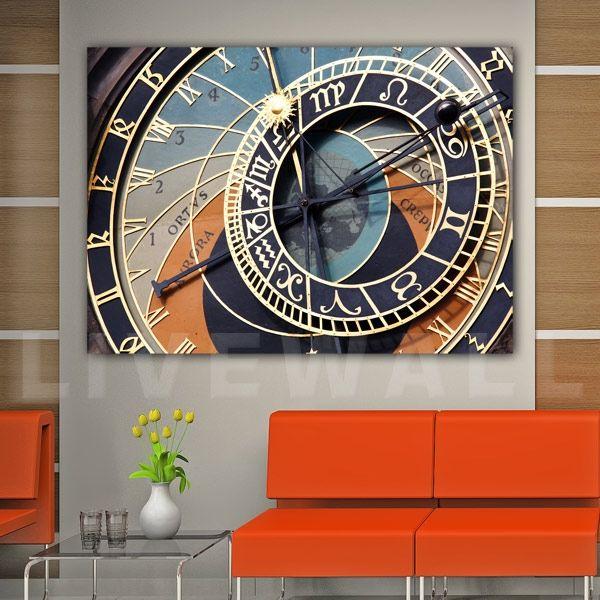 Αστρονομικό ρολόι πίνακας σε καμβά