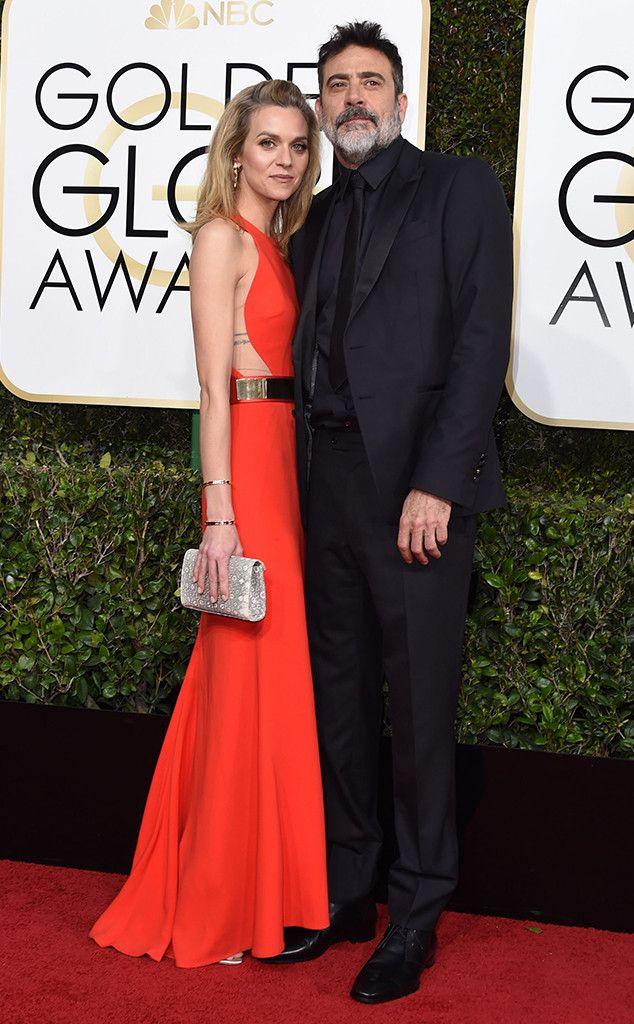 Jeffrey Dean Morgan, Hilarie Burton, 2017 Golden Globes, Couples