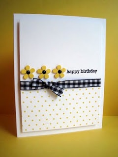 Such a cheery card. I miss SU gingham ribbon!