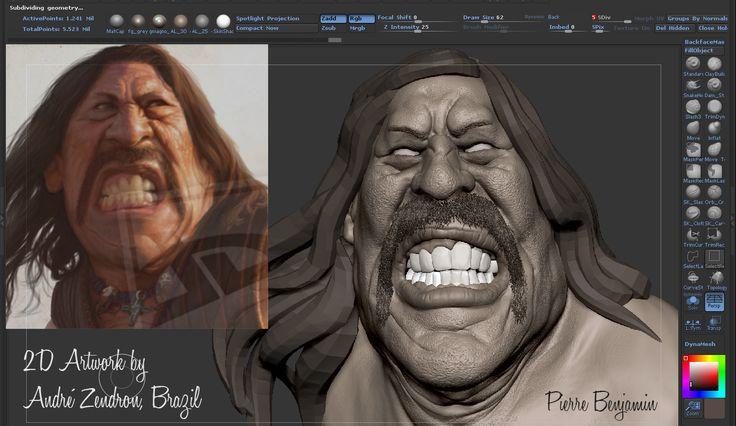 Danny Trejo speed sculpt WIP Video timelapse here: http://youtu.be/_iJpwOaPUZw