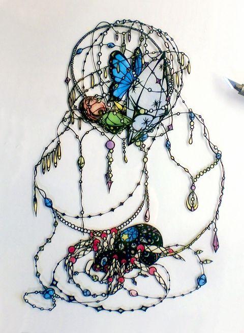 「宝石蜘蛛の宝物」/「ののみ むし」のイラスト [pixiv]