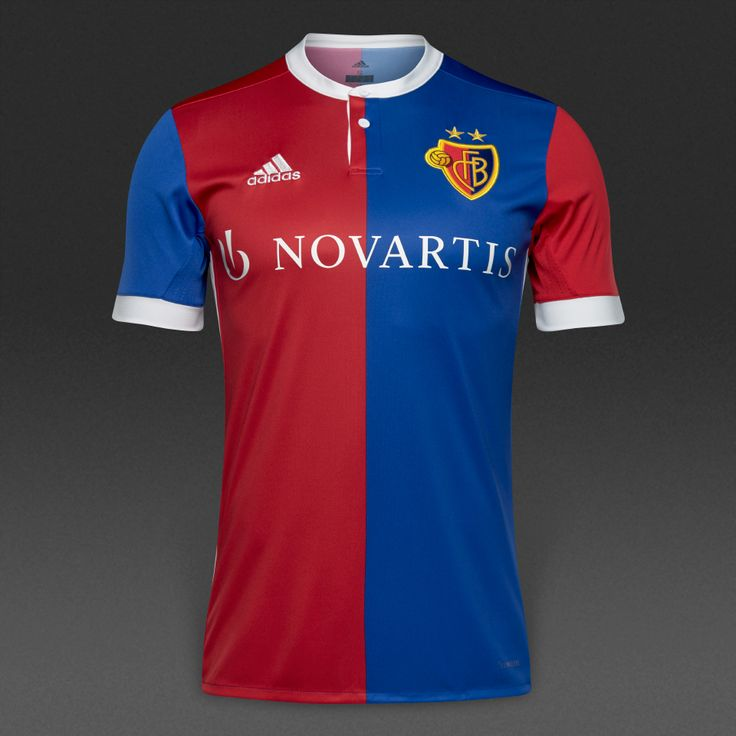 adidas FC Basel 17/18 Home Jersey  - Bold Blue/Bold Red/White