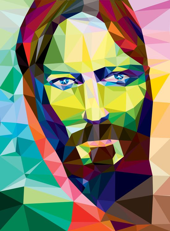 Low Poly Jesus Art Print