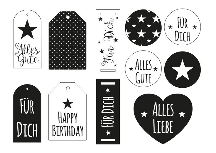 Geschenkanhänger zum Ausdrucken ✰ miomodo Blog: DIY, Basteln, Verpacken & Verschenken ✰ Jetzt kostenlos Vorlage downloaden und selber drucken!