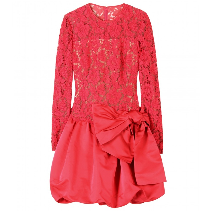 lace dress with saten skirt