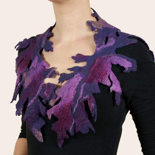 Felt and Silk Art / Felt Collars