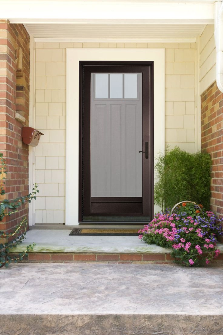 Provia visualizer my new exterior storm door portico 39 s for Front door with storm door