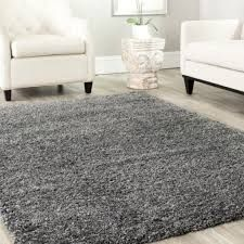 Shag 8x10 Area Rug In Grey Color