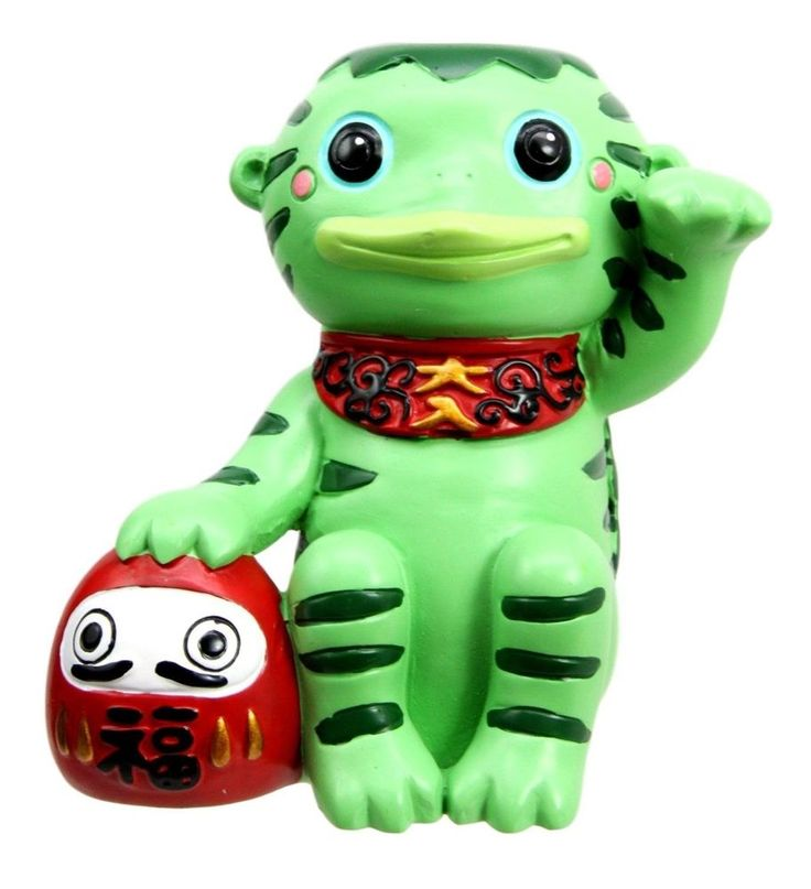 "3.75"" Height Japanese Talisman Maneki Kappa Folklore Giant Salamander Figurine"