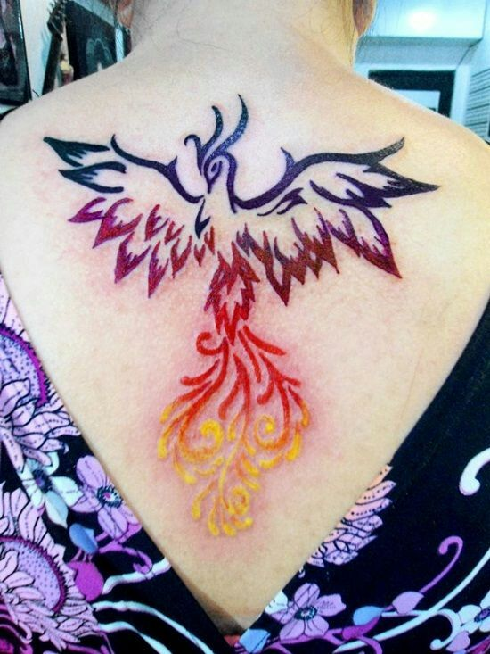 Phoenix tattoo color