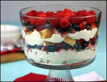 HG's Red, White & Blueberry Trifle