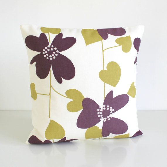 16x16 Cushion Cover Purple Pillow Cover 16x16 Pillow by CoupleHome