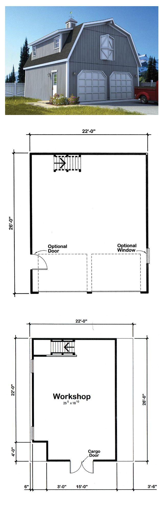 27 best two car garage plans images on pinterest garage plans country farmhouse garage plan 6007
