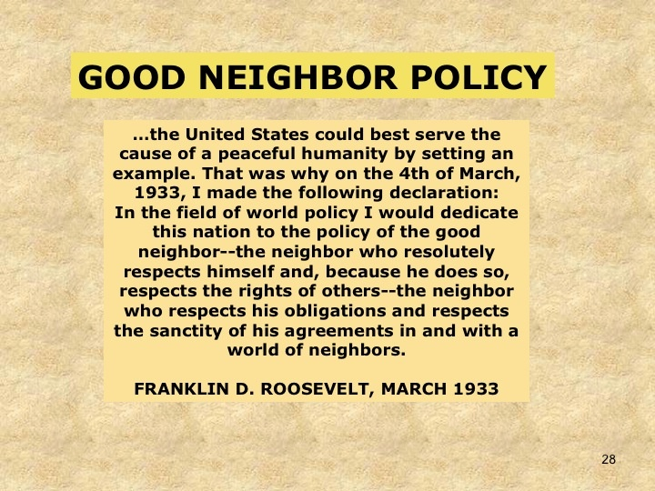 Roosevelt's Good Neighbor Policy | FDR sought to soften ...