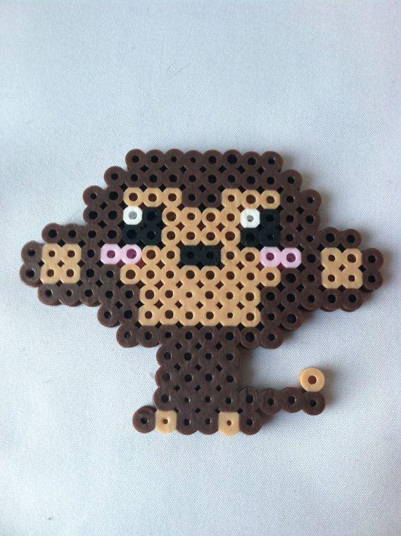 Perler Bead Kawaii Monkey