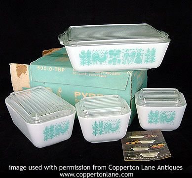 Whoops, guess the Pyrex collection has started. Just picked up the Butterprint refrigerator dishes at Brimfield.