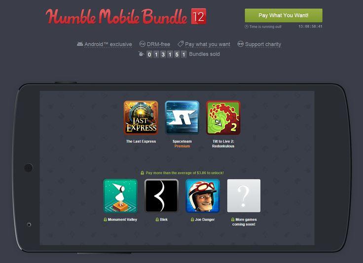 Humble Mobile Bundle : Monument Valley, The Last Express et Joe Danger à l'affiche - http://www.frandroid.com/applications/282505_humble-mobile-bundle-monument-valley-the-last-express-joe-danger-a-laffiche  #ApplicationsAndroid, #Jeux